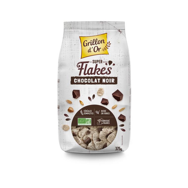 Super flakes aux copeaux de chocolat noir bio 375 g 121235