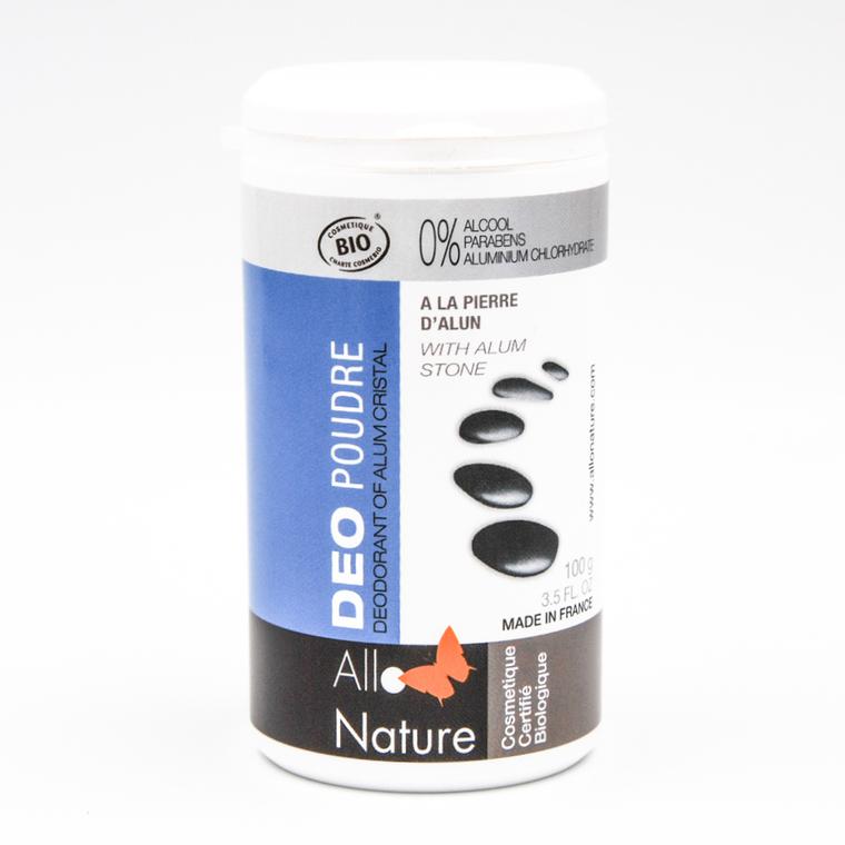 Déodorant alun en poudre bleu de 100 ml 121369