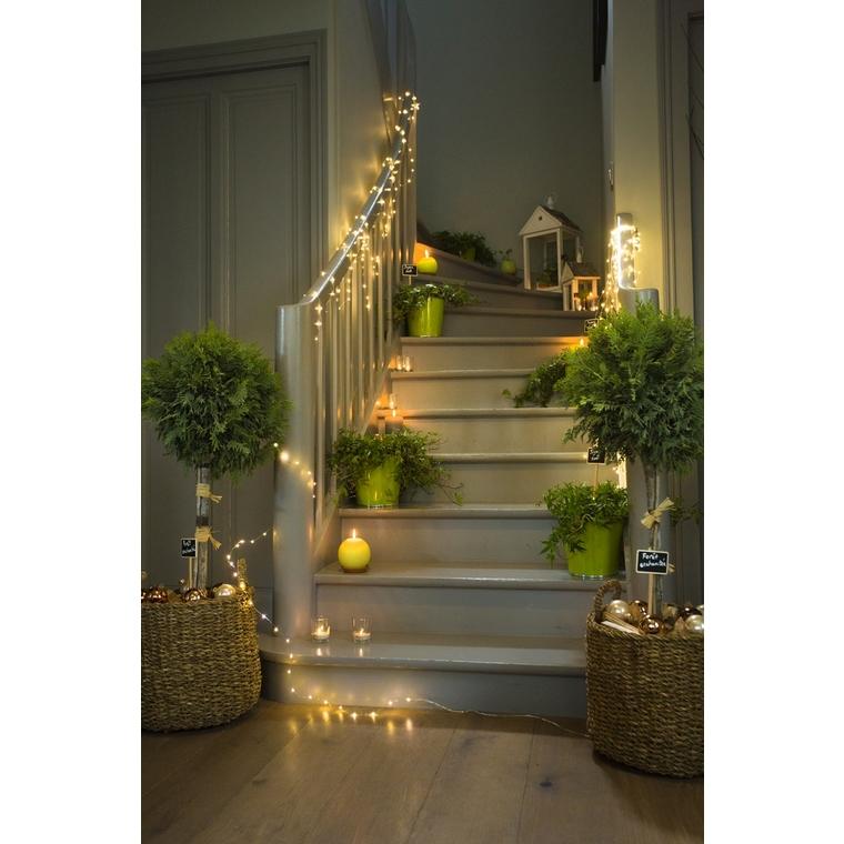 Bouquet de 3 guirlandes lumineuses à pile 20 LED blanc 1 m 122033