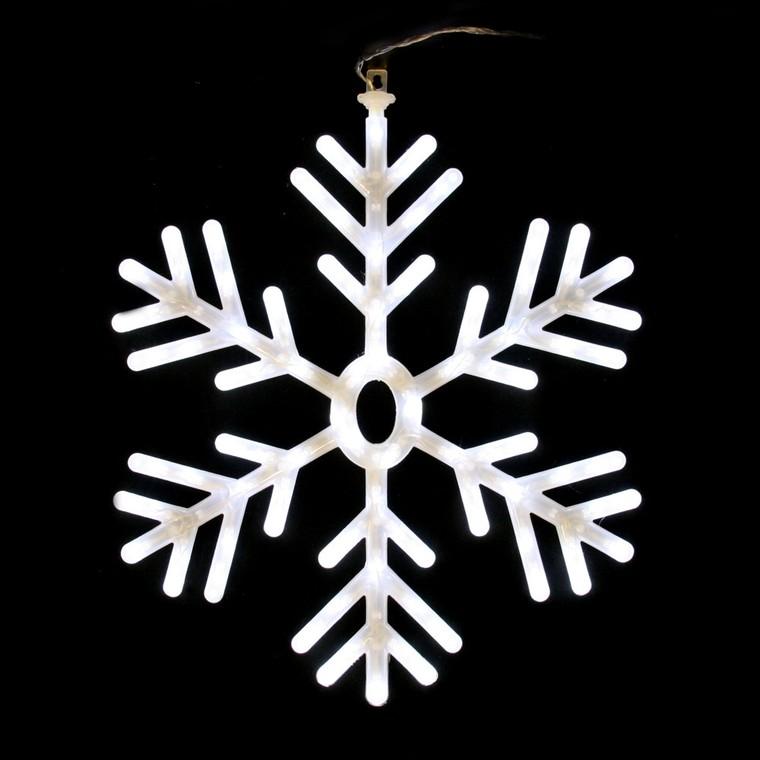 Flocon de neige lumineux à suspendre animé blanc 122047