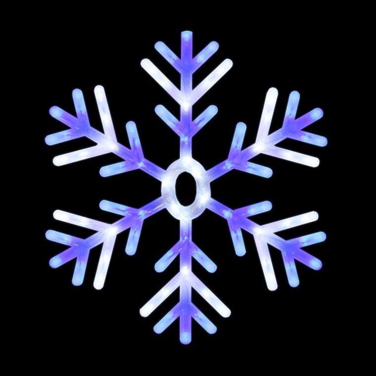 Flocon de neige lumineux à suspendre animé bleu 122048