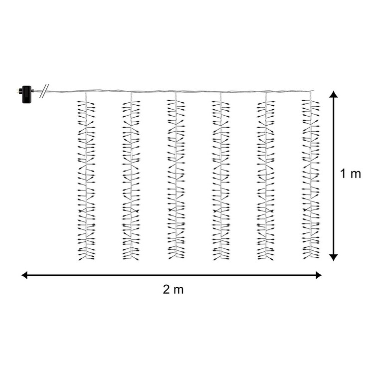 Rideau lumineux Boa animé 2 m 122052