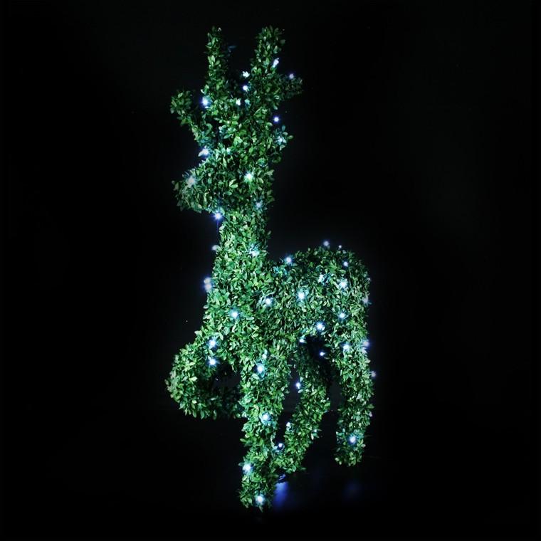 Renne lumineux debout buis vert 100 LED 96 cm 122819