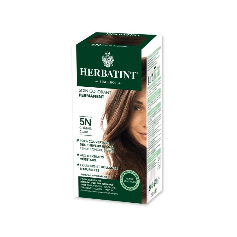 Coloration Herbatint Châtain clair - 5N - 145 ml 122837