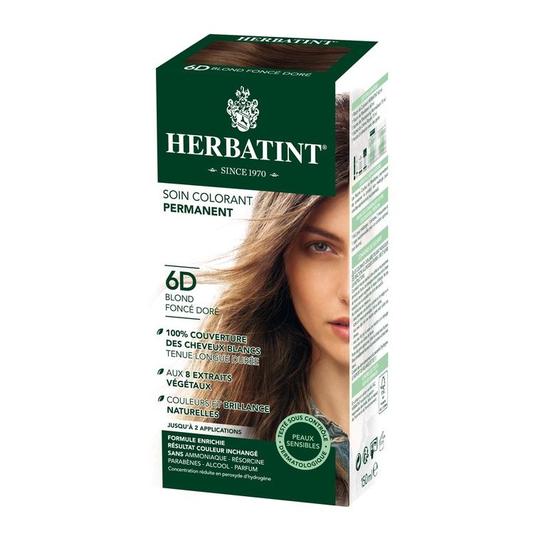 Coloration Herbatint Blond Foncé Doré - 6D.145 ml 122845