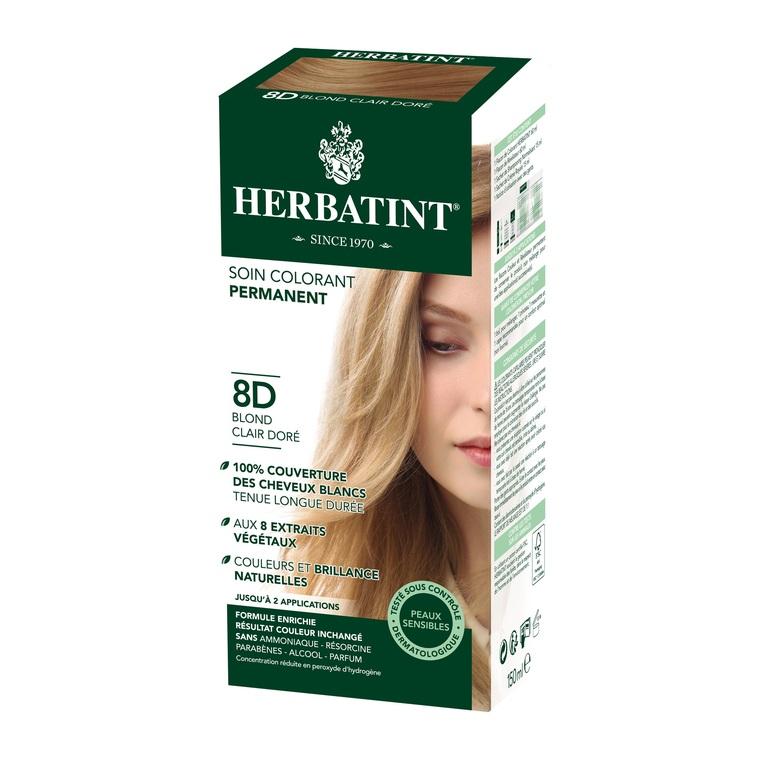 Coloration Herbatint Blond Clair Doré - 8D.145 ml 122847