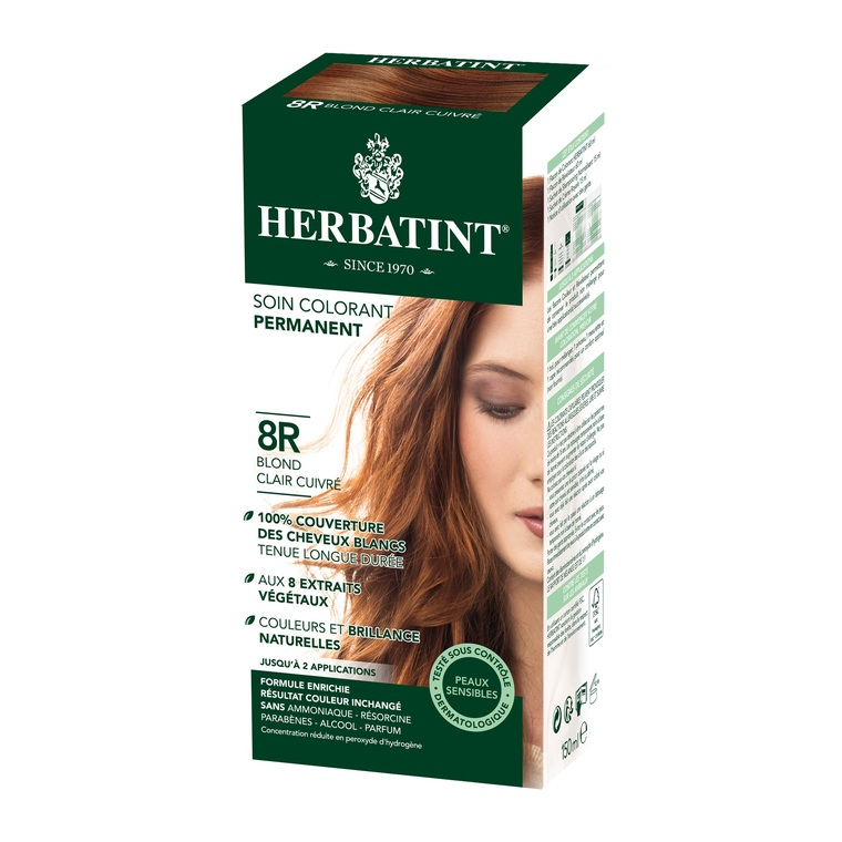 Herbatint Blond Clair  Cuivré - 8R.145 ml 122854
