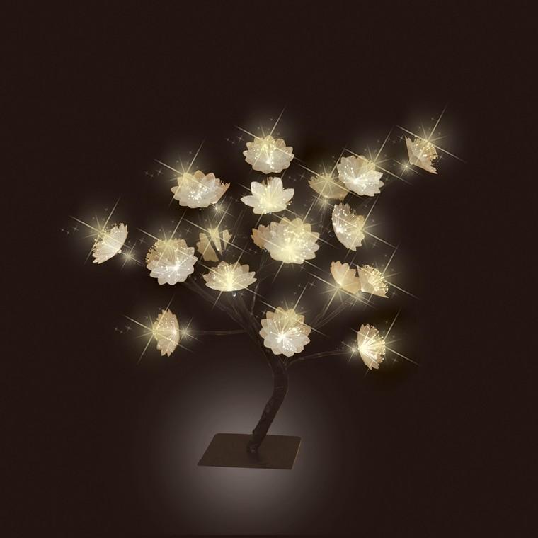Arbre lumineux fibre d'optique 20 leds 123232