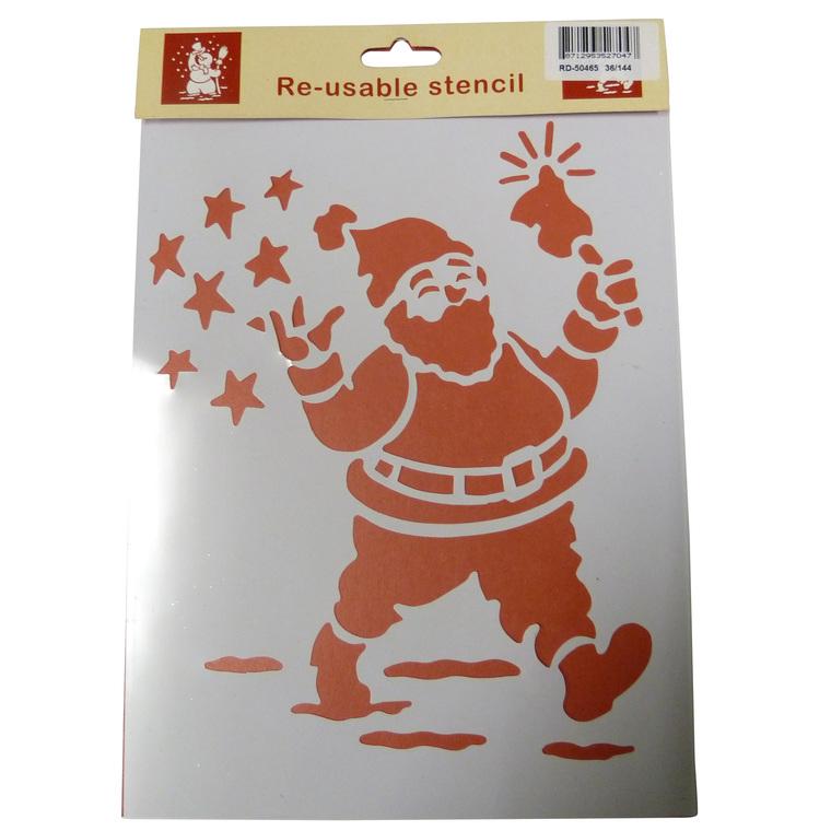 Pochoirs Père Noël rouge 21 x 30,3 cm 123477