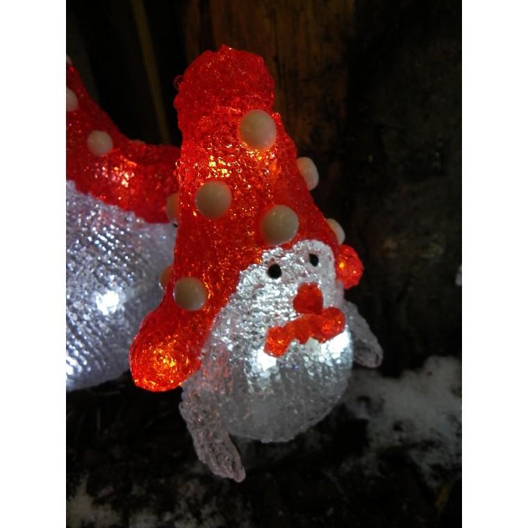 Oiseau lumineux avec bonnet rouge 21 cm 123801
