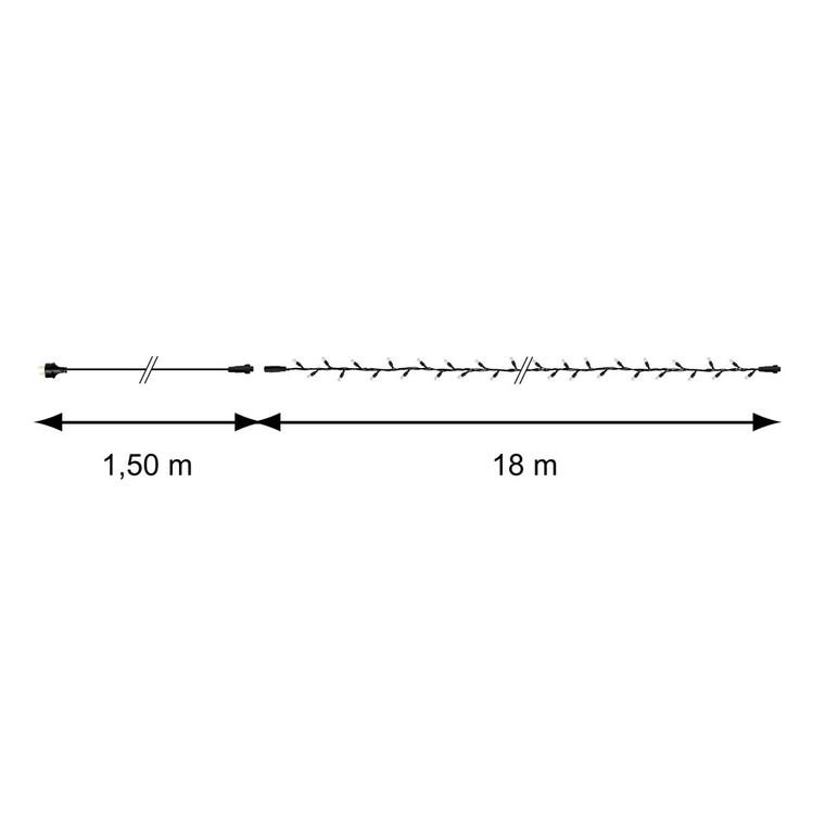 Guirlande lumineuse rouge raccordable 18 m 123857