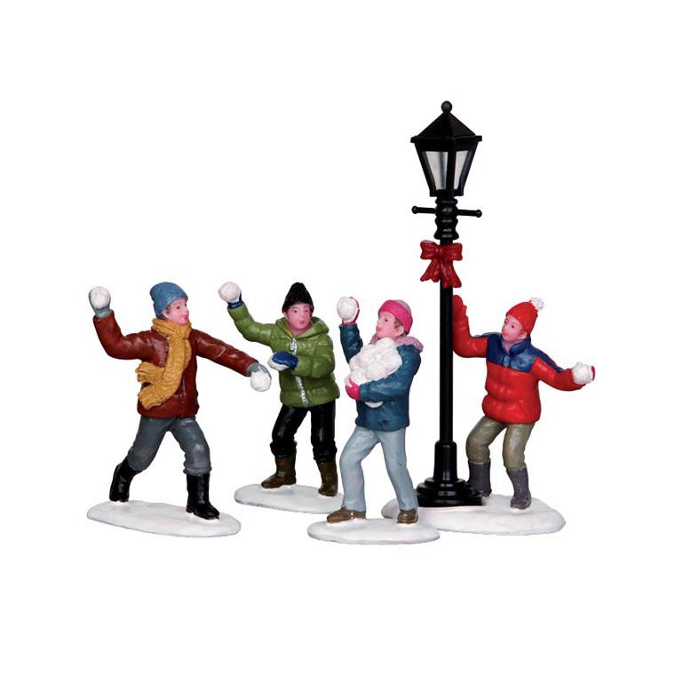 Figurine Lemax - Bataille boules de neige dans la rue 123908