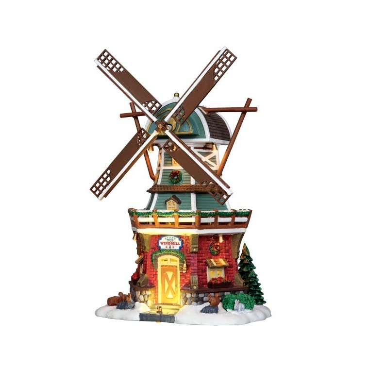 Maison illuminée Moulin de Stony Brook 22.3 x 15.5 x 30 cm 123984
