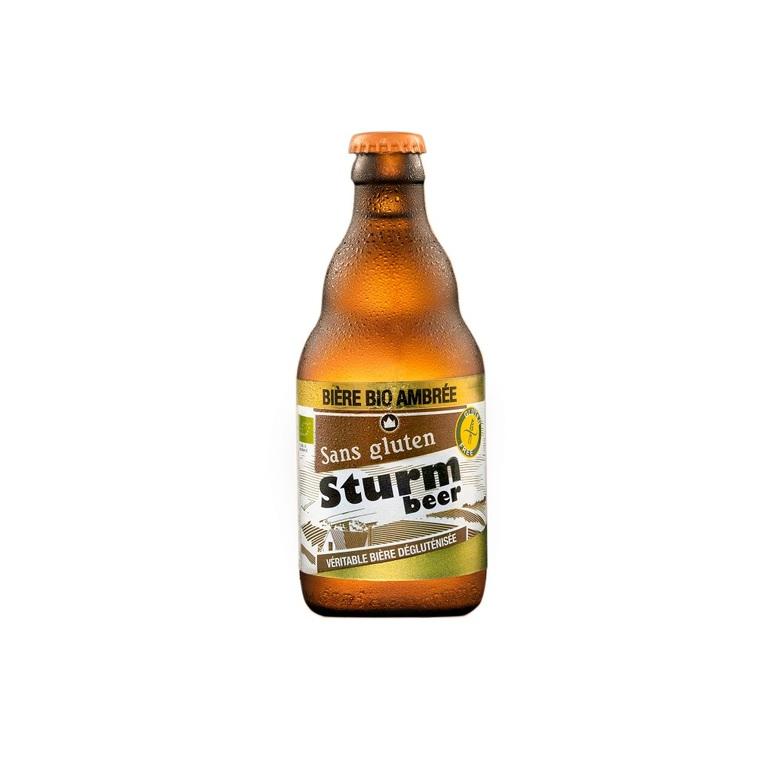 Bière ambrée sans gluten STURMBIO 127167