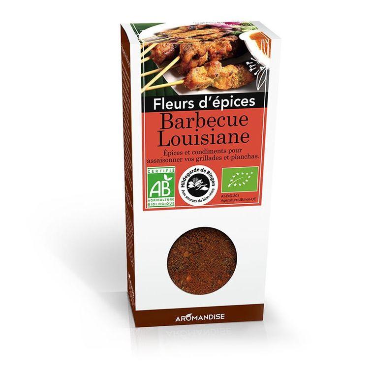 Fleurs d'épices barbecue Louisiane bio en boite marron de 42 g