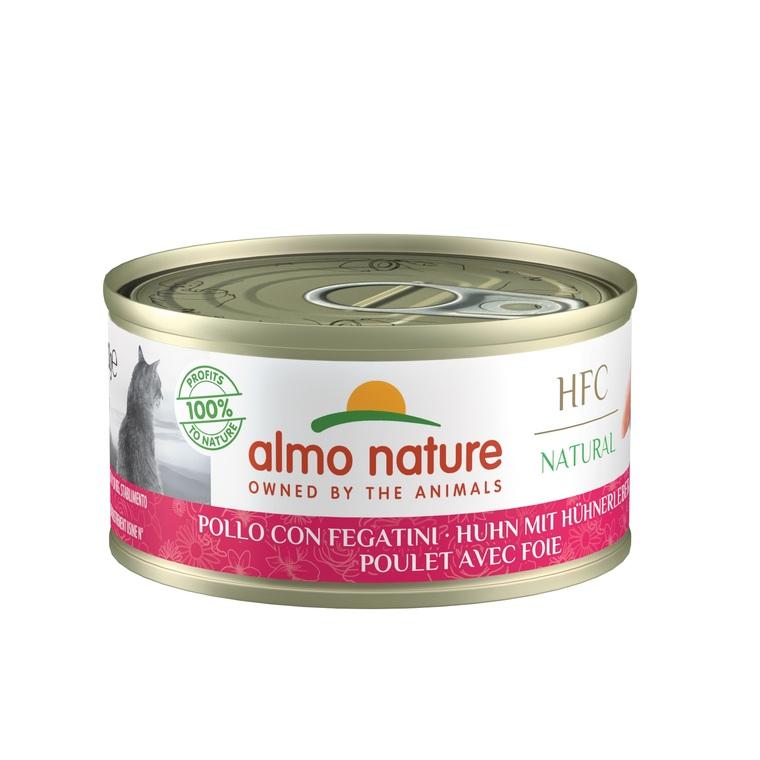 Boîte pour chat Almo nature poulet et foie 70 g 129297