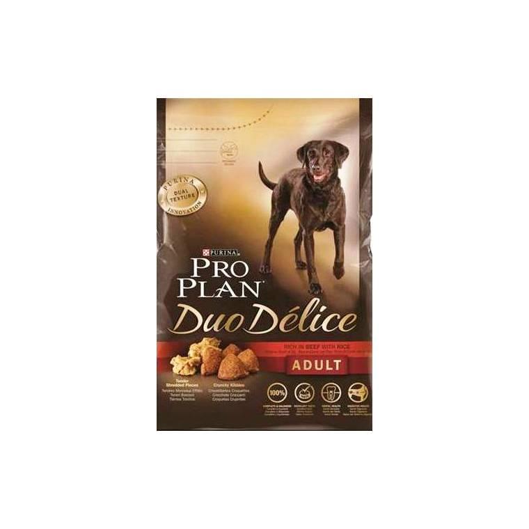 Croquettes pour chien duo délice au bœuf Pro plan 10 kg 129537