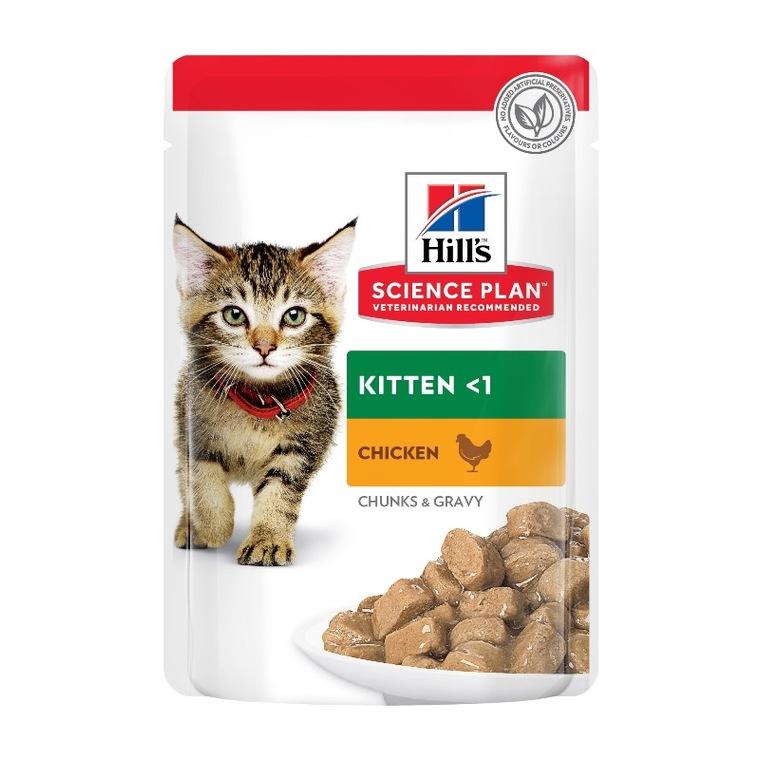 Aliment humide pour chaton Feline kitten poulet en sachet de 85 g 135238