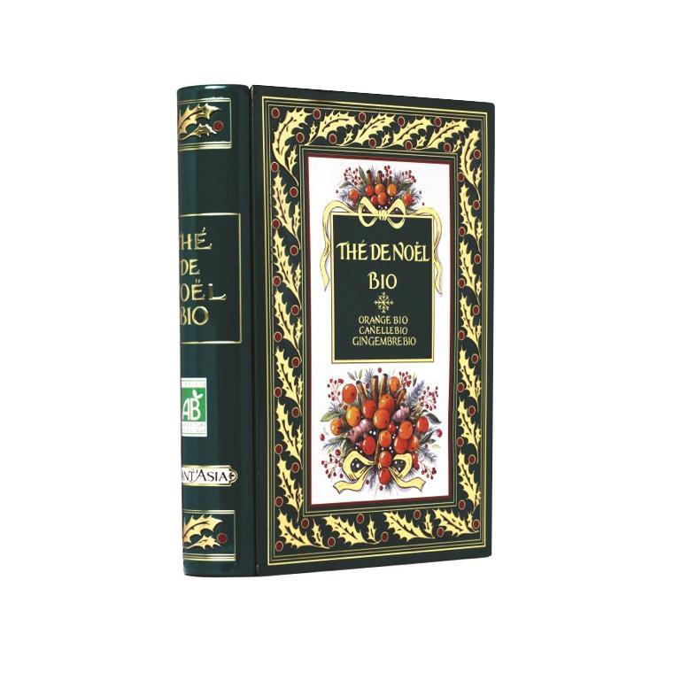 """Thé de Noël Orange Cannelle Gingembre Bio """"livre""""BM 48 g 136799"""