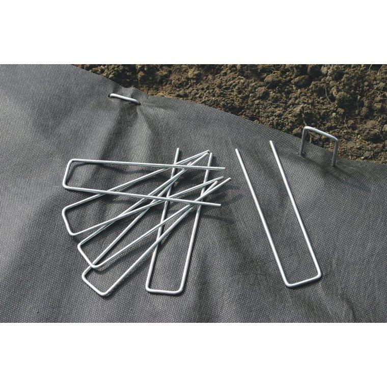 Agrafes de fixation métalliques coloris gris 17x3,5 cm 13792