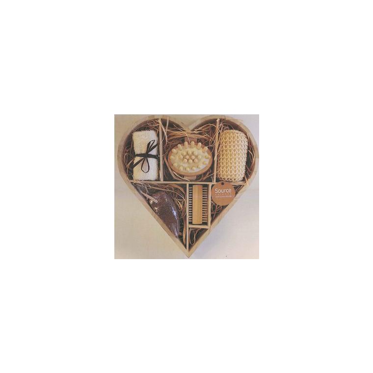 Set coeur Source Balance bois sisal 138198