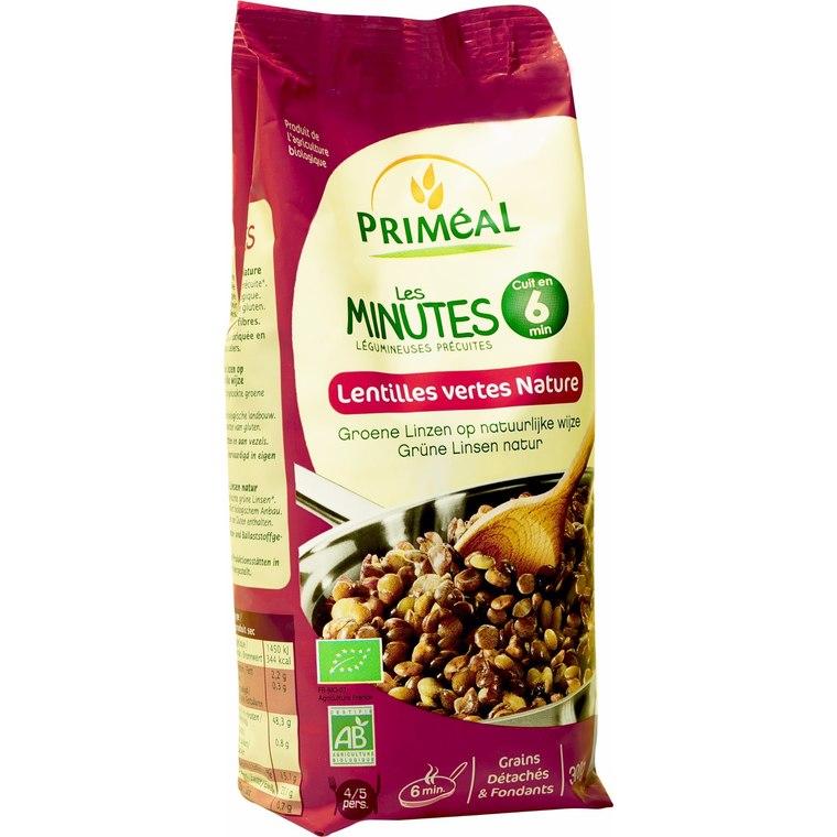 Lentilles vertes nature précuites 300 g PRIMEAL 139762