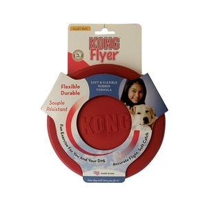 Jouet chien Kong flyer frisbee Small rouge 18cm