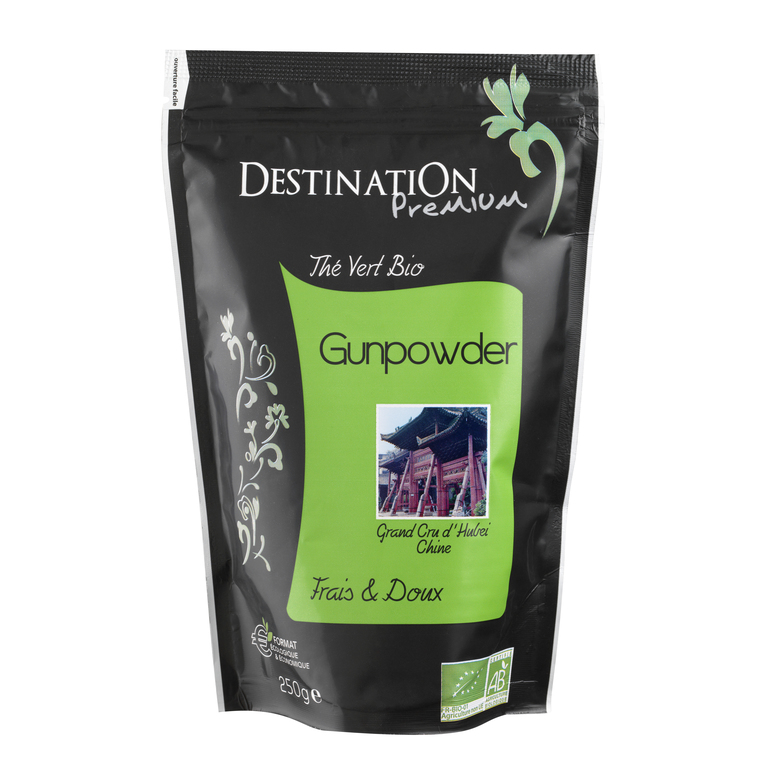 Thé vert nature gunpowder Destination 250 g 14870