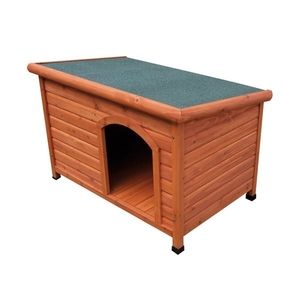 Niche chien bois FSC toit plat Small
