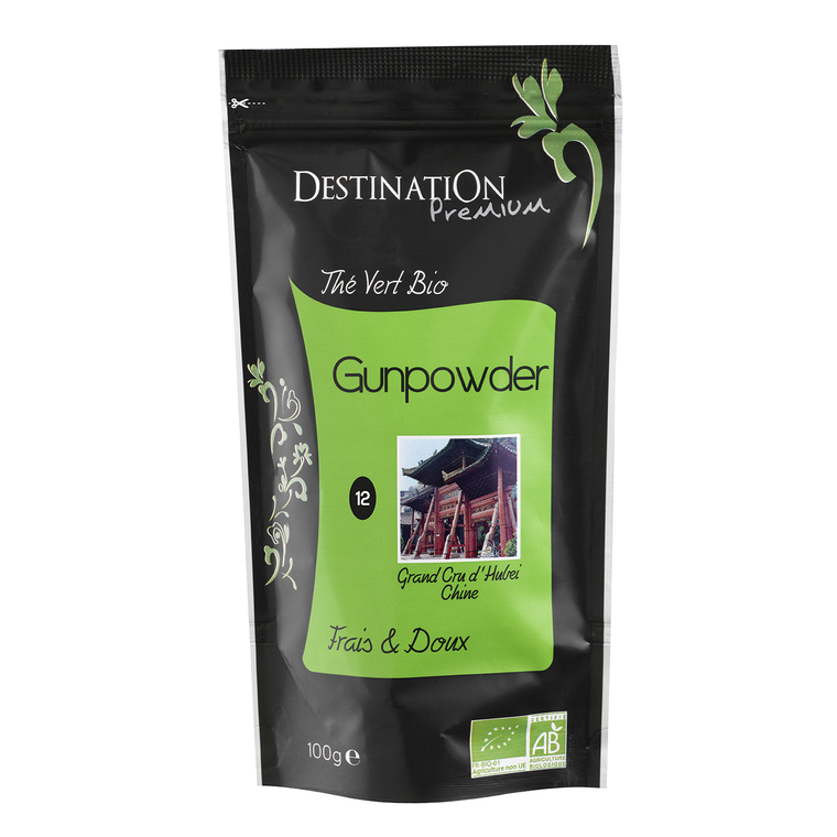 Thé vert nature gunpowder  Destination 100 g