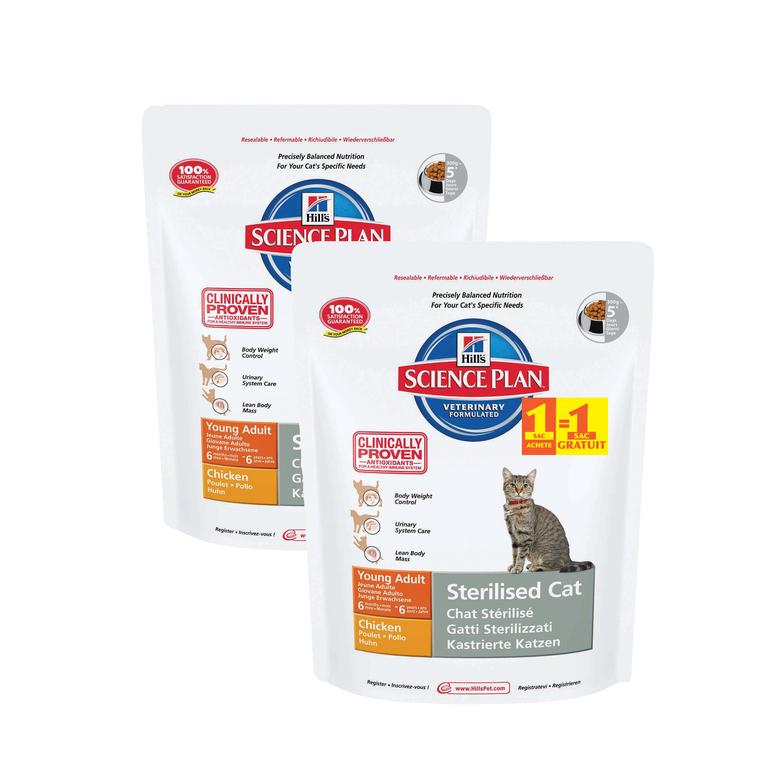 Croquettes féline adulte pour chat stérilisé au poulet 300 g