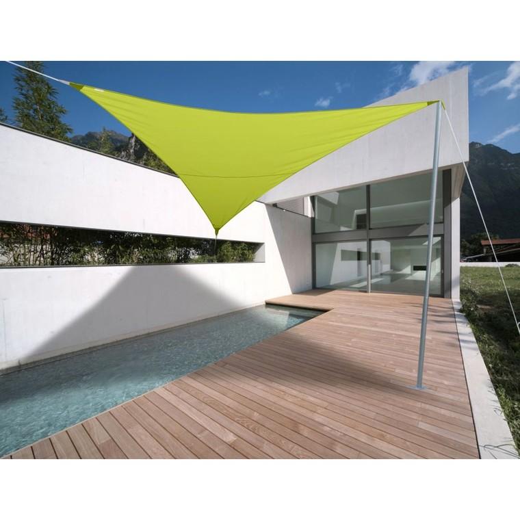 Voile ombrage vert 5m triangulaire Serenity 153425