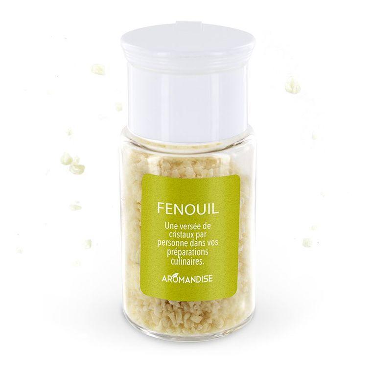 Cristaux d'huiles essentielles au fenouil bio en boite de 10 g