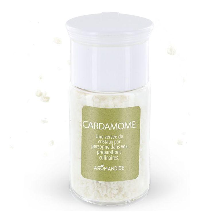 Cristaux d'huiles essentielles à la cardamome bio en boite de 10 g