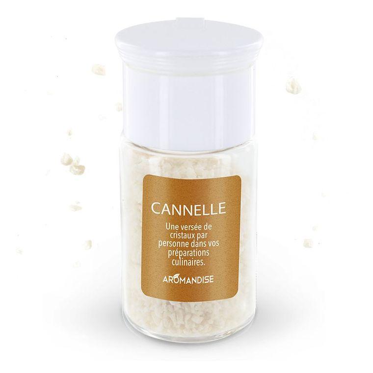 Cristaux d'huiles essentielles à la cannelle bio en boite de 10 g