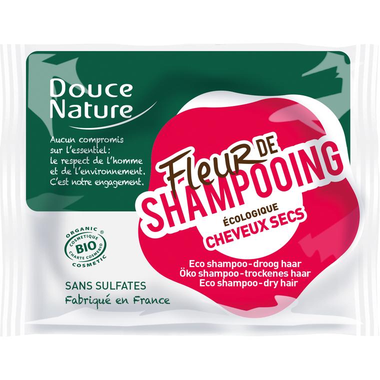 Fleur de shampoing cheveux secs bio. Le sachet de 85 g 154484