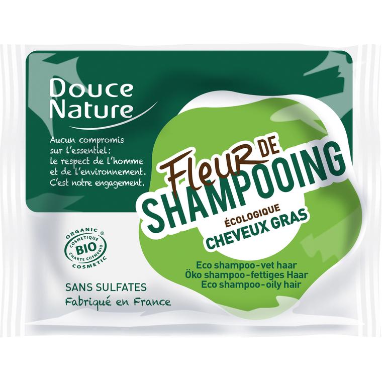 Fleur de shampoing cheveux gras bio. Le sachet de 85 g 154485