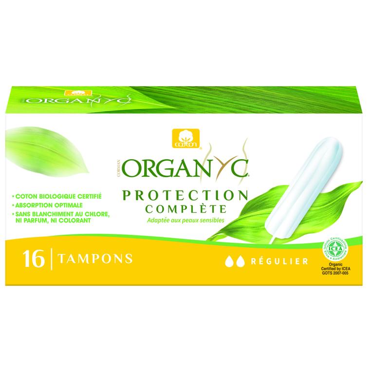 16 tampons réguliers sans appicateur Organyc 154498