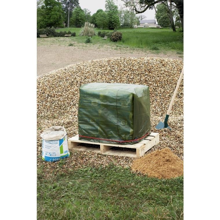 Bâche de protection coloris vert 4x5 m 154501