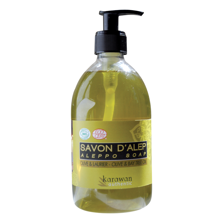 Savon d'Alep liquide certifié* biologique 500 ml KARAWAN 154756