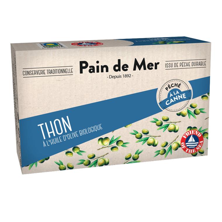 Thon à l'huile d'olive en boîte Pain de Mer - 120 g 155533