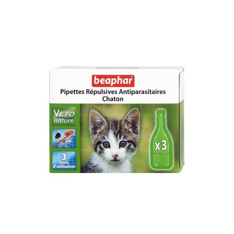 Pipettes antiparasitaires pour chaton 3x0,4 ml 155994