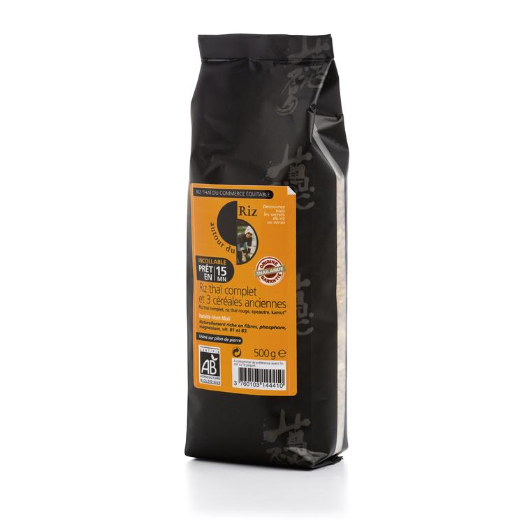 Riz thai et céréales anciennes bio cuisson 15 minutes 500g 156628