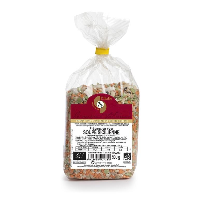 Soupe sicilienne aux fèves bio 500g 156635