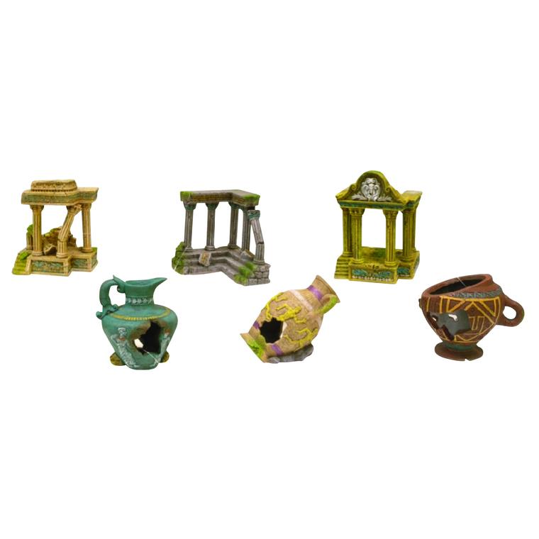 Figurines aqua ruine