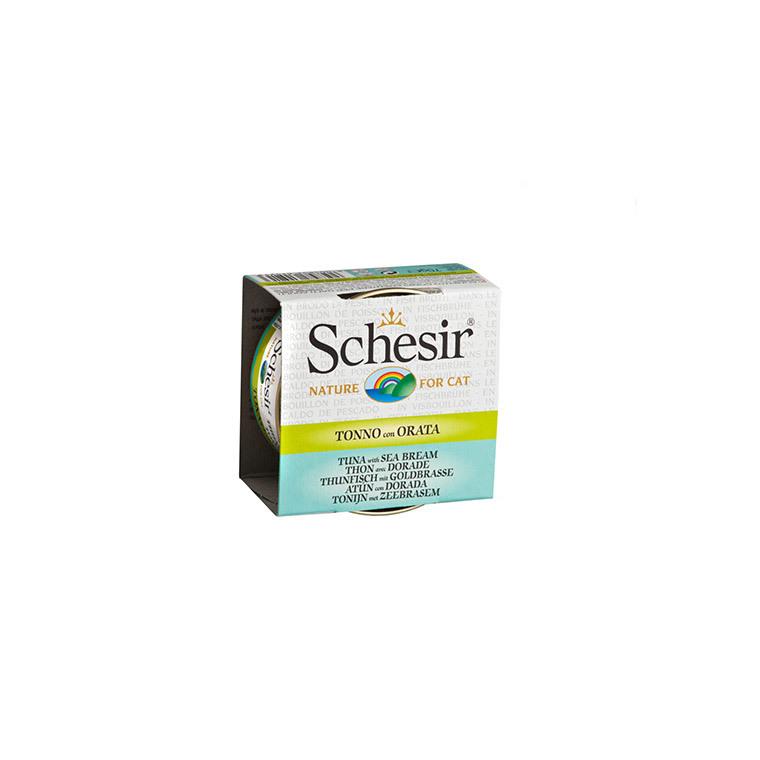 Boîte pour chat Schesir Thon Dorade 70 g