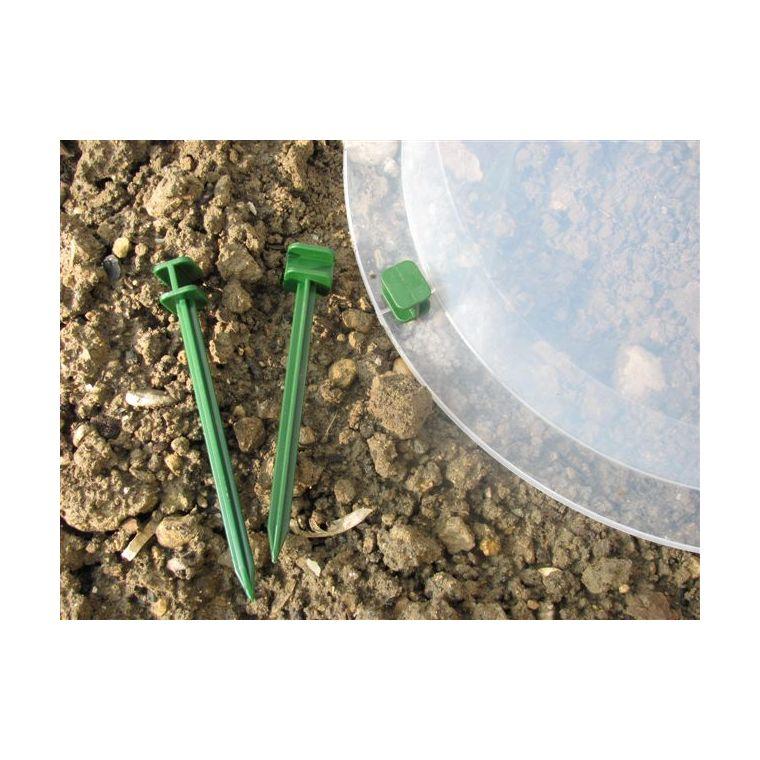 Pack de 10 mini piquets vert spécial cloche en polyamide