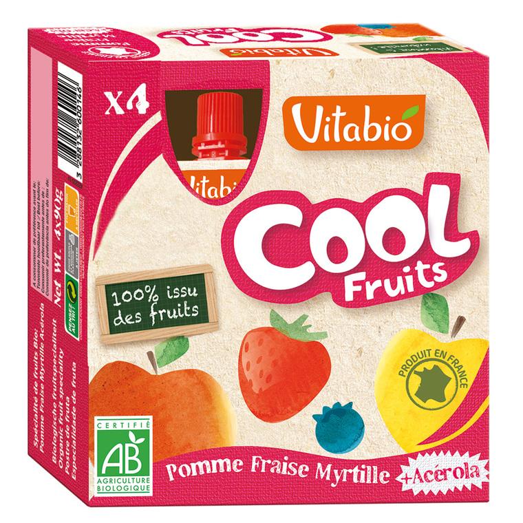 Cool Fruits Bio Pomme-Fraise-Myrtille 4 X 90 G VITABIO 159809
