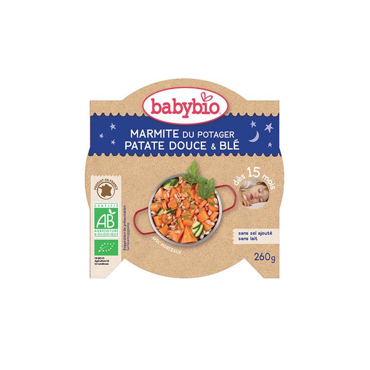 Patates douces et blé bonne nuit Babybio 260 g 160663