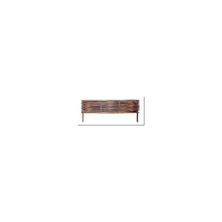 Bordure en osier brun 100 cm 162752